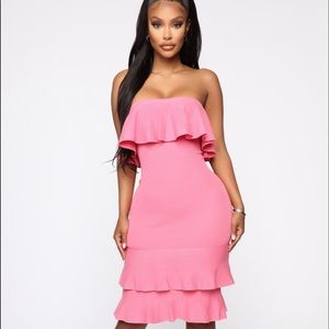 Fashion nova pink dress 👗